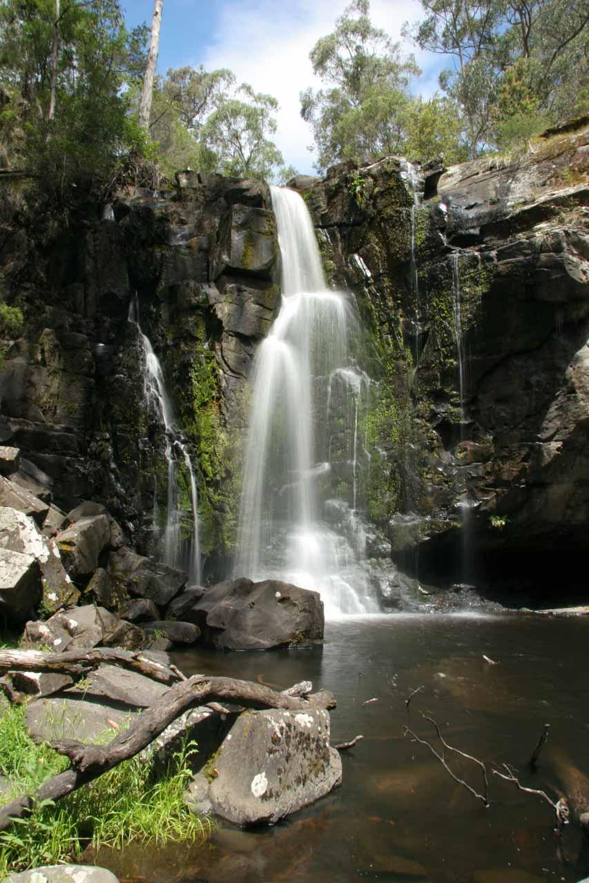 Long exposed view of Phantom Falls