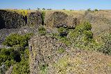 Phantom_Falls_128_04092021 - Looking back at the context of the precarious basalt knob that I had stood on to look at Phantom Falls and 'Little Phantom Falls'