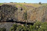 Phantom_Falls_189_04092021 - Another look at Phantom Falls with faint rainbow flanking the basalt cliffs next to it