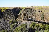 Phantom_Falls_199_04092021 - Looking towards the Phantom Falls with a pair of large basalt bluffs that looks like it had been sheared off to reveal the pronounced basalt columns there