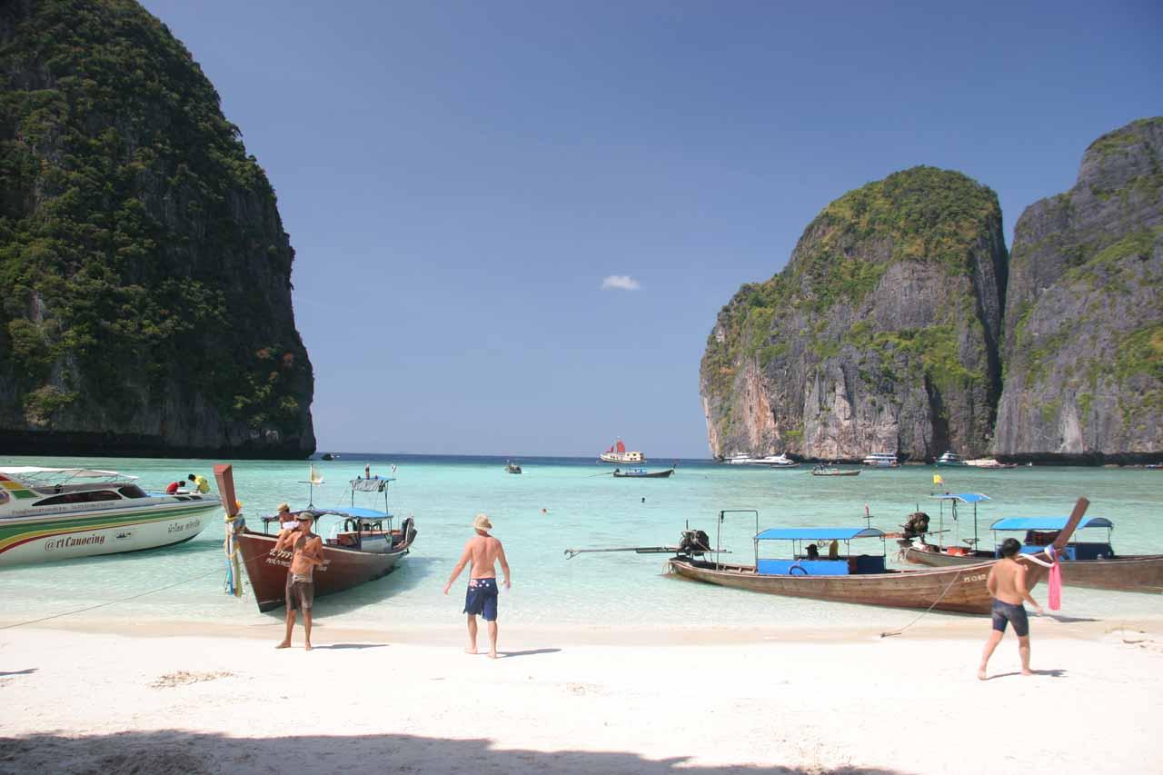 The famous Maya Beach