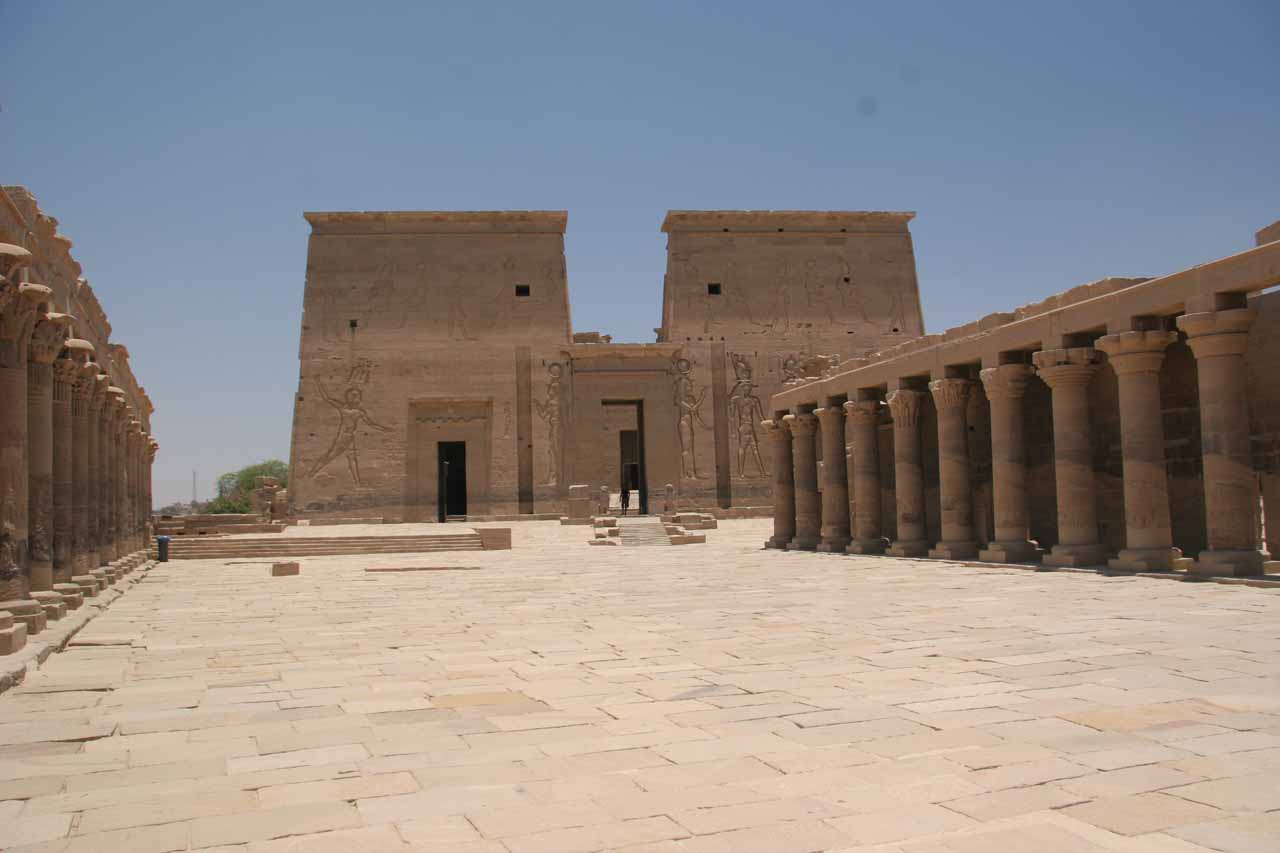 Front facade of Philae Temple