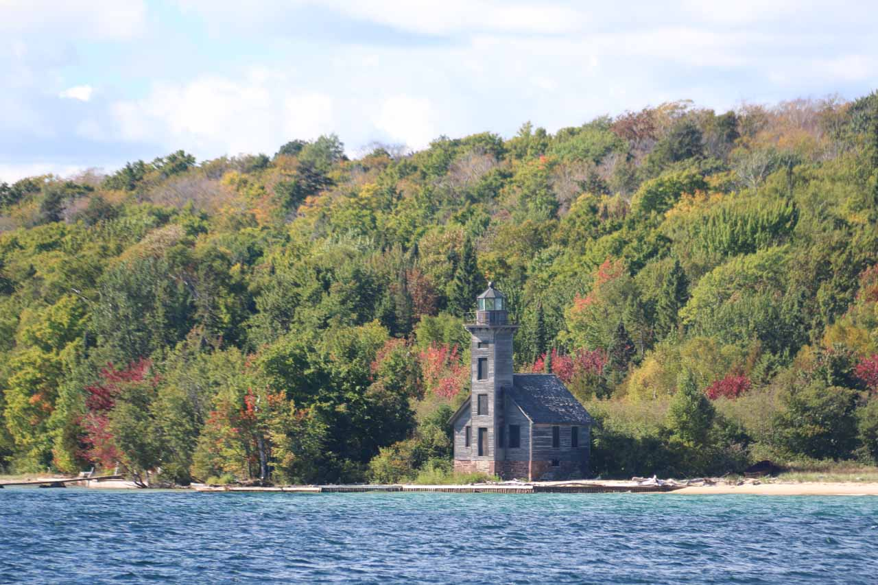 This school-looking building was actually the historical Grand Island East Channel Lighthouse seen in the early part of our cruise