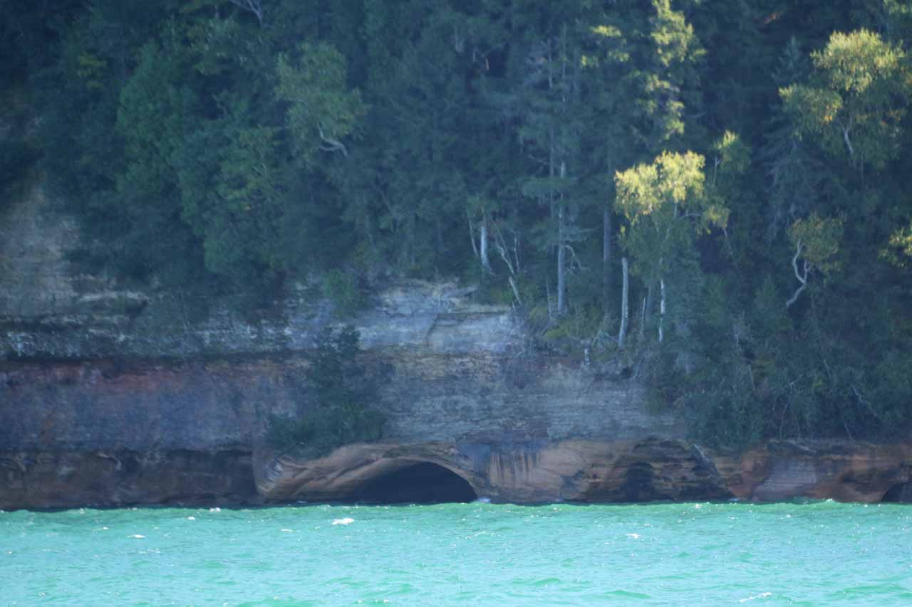 Some interesting coves and caves along the Pictured Rocks cliffs