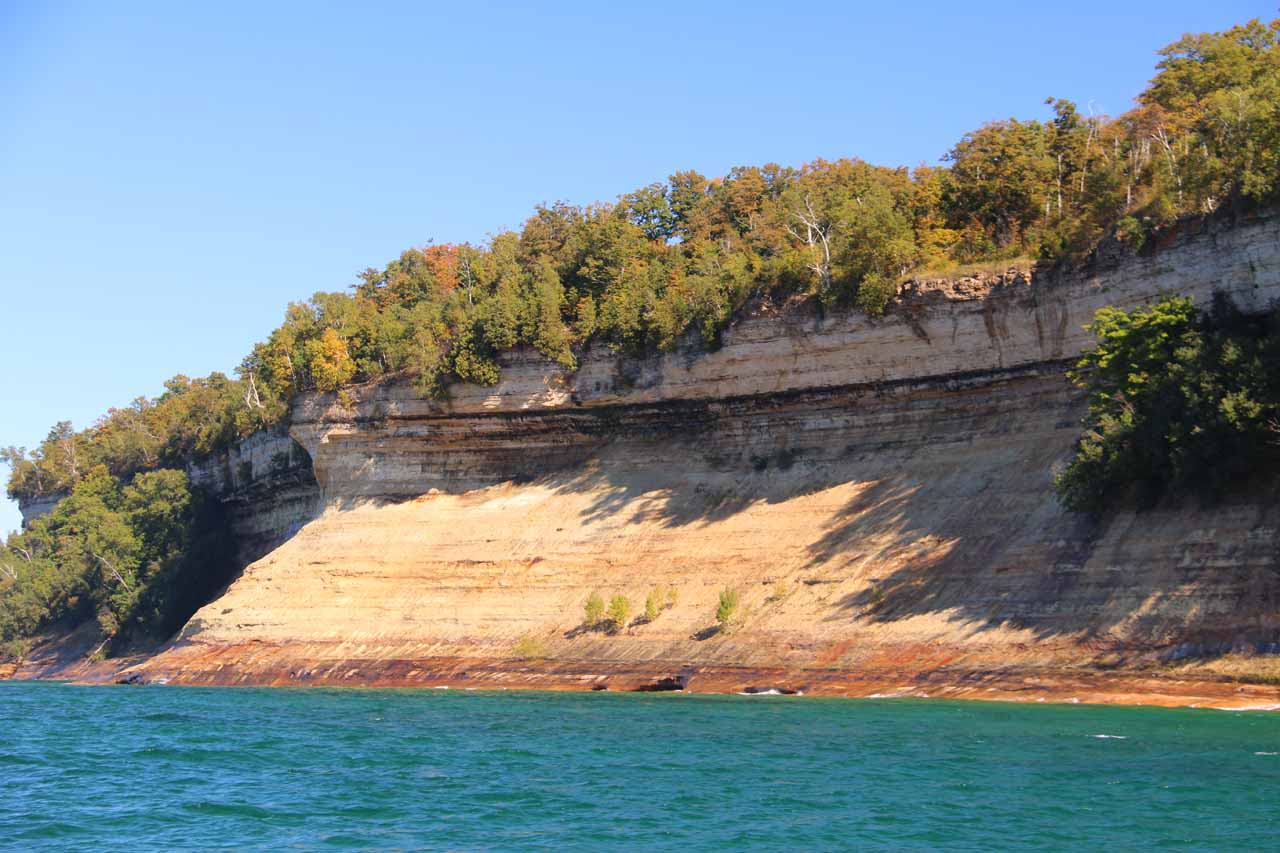 Some cliffs actually got the benefit of the Autumn afternoon light during our 2pm cruise