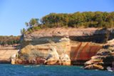 Pictured_Rocks_cruise_152_09302015 - Approaching some of the most shapely and colorful parts of the Pictured Rocks
