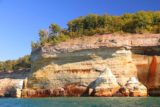 Pictured_Rocks_cruise_161_09302015 - More shapely cliffs and colorful streaks under some nice late afternoon light