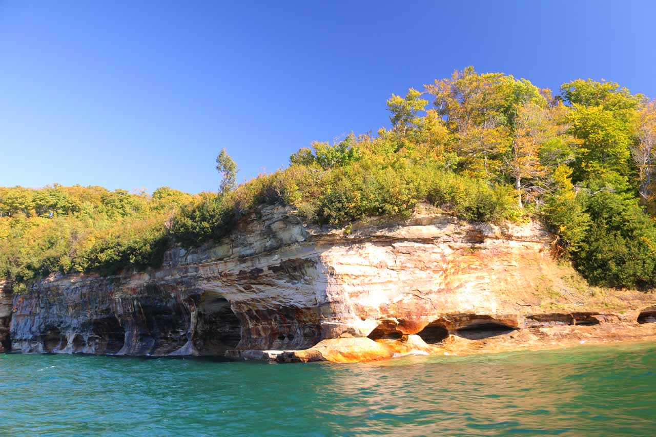 Some attractive coves along the Pictured Rocks cliffs