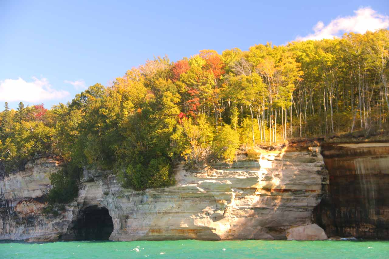 More Pictured Rocks scenery beyond Chapel Rock