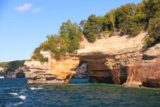 Pictured_Rocks_cruise_466_09302015 - Looking back at the Lover's Leap Arch in attractive late arvo light