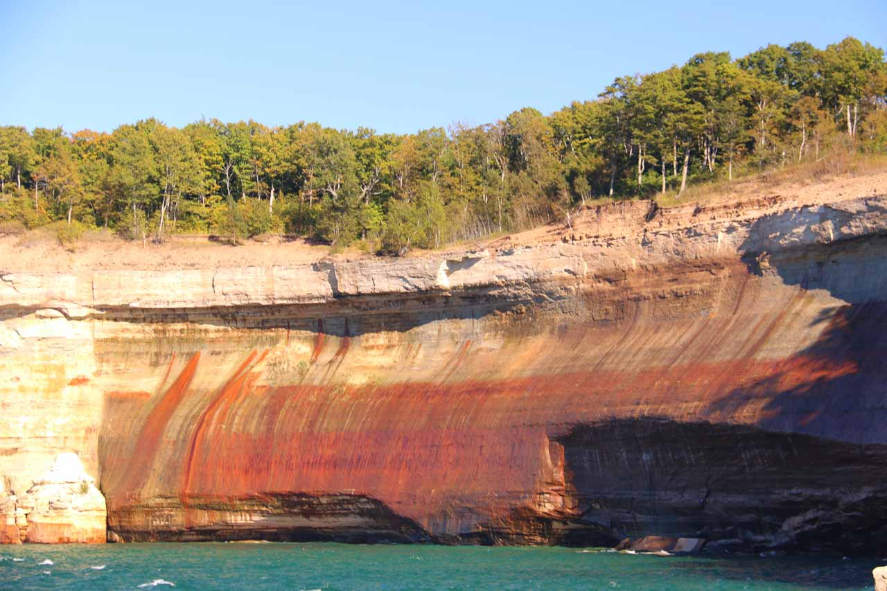 On the way back to Munising, we managed to get a second look at the Pictured Rocks from the other side of the boat. Note how the lighting improved the later in the afternoon it became, which confirmed my suspicion that the lighting improves the later in the day you do the cruise