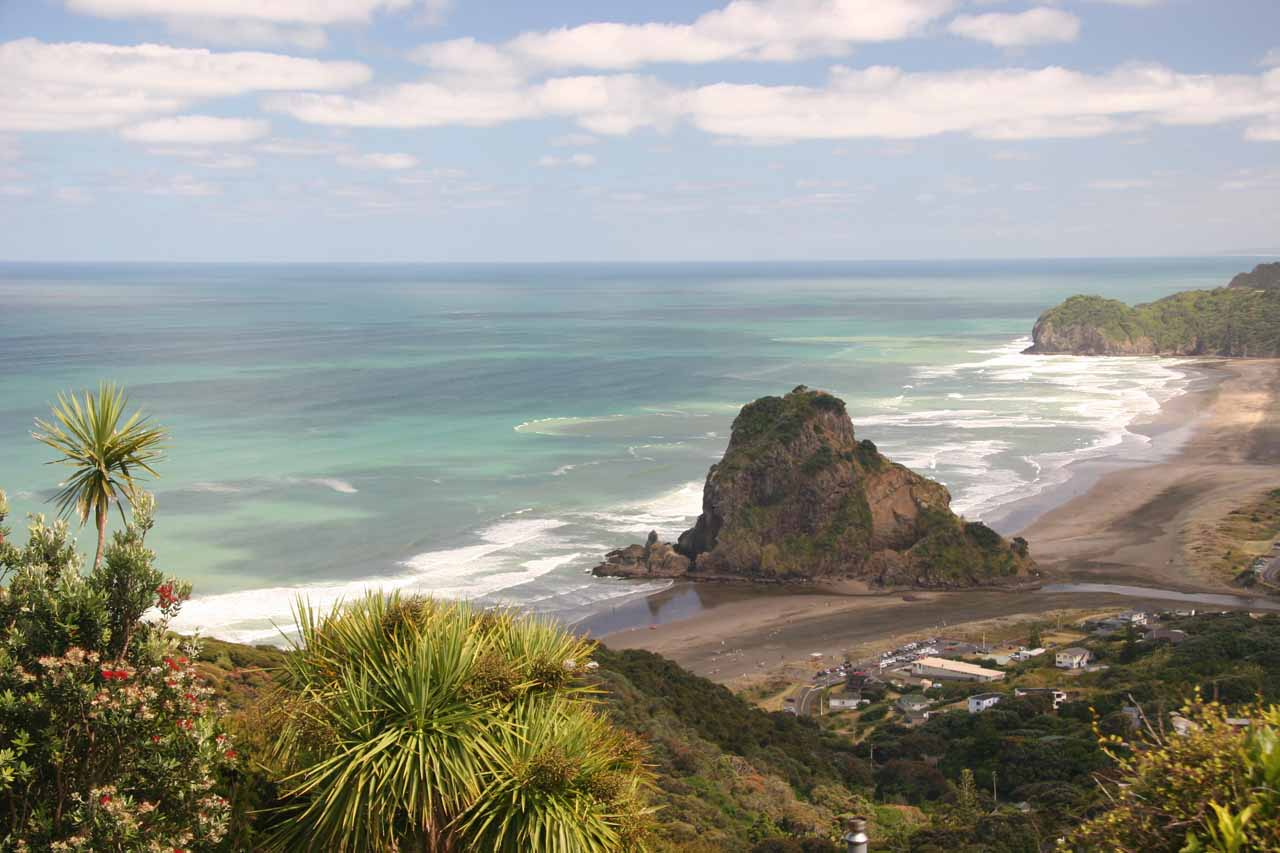 Very close to Kitekite Falls was the picturesque Piha Beach, which was quiet on my first visit here, but was the site of a pretty happening festival five years later