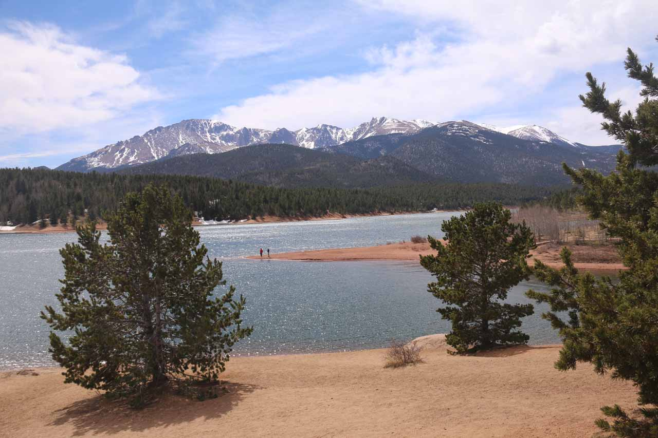 Also roughly an hour's drive from downtown Colorado Springs was the summit of Pike's Peak at 14,115ft, where we also got to check out views towards the peak like this over the Crystal Reservoir