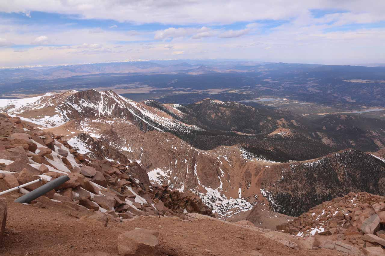 Also roughly an hour's drive from downtown Colorado Springs was the summit of Pike's Peak at 14,115ft, which we were able to drive to. This was perhaps the only 14,000ft peak that we were able to bag.