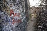 Pillar_Falls_208_04022021 - Unsightly graffiti with messaging that's even more unsightly along the Pillar Falls Trail