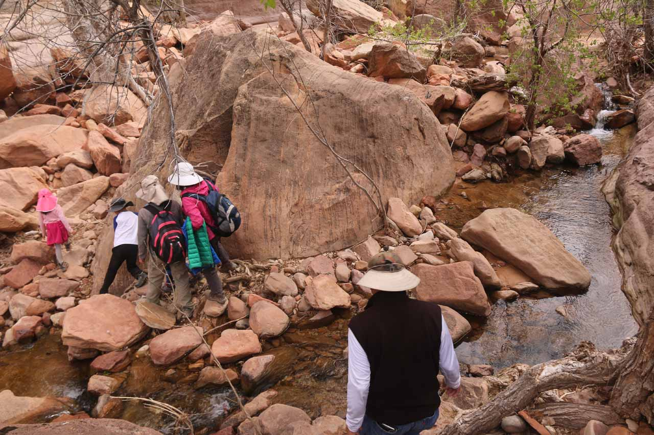 This was another crossing of Pine Creek