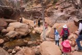 Pine_Creek_Falls_180_04042018 - The group negotiating more boulder obstacles as the next group of visitors were making their way upstream