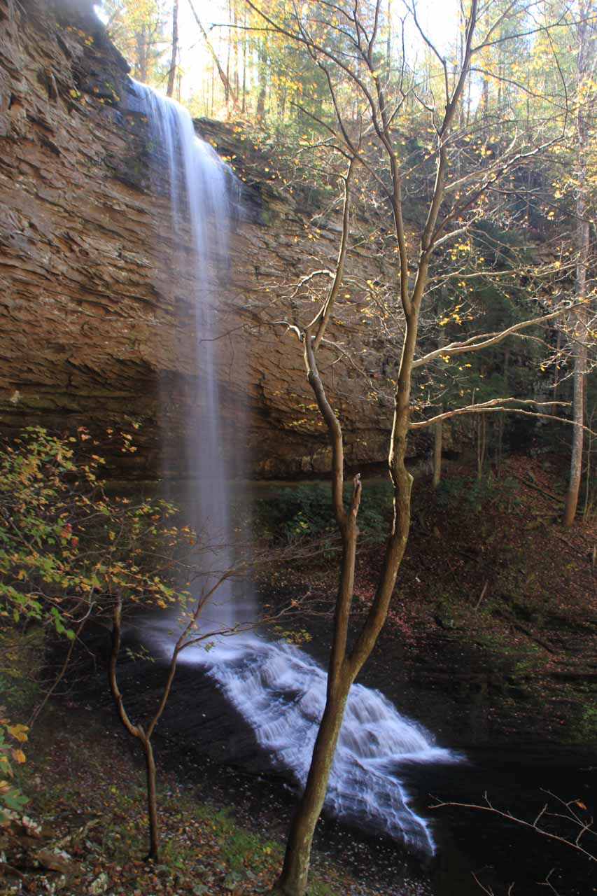 Upper Piney Falls from a different angle going beyond its backside