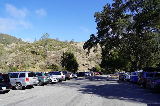 Pinnacles_NP_001_02232020 - The parking lot at the Bear Gulch Nature Center, which was also the nearest car park for the Bear Gulch Falls