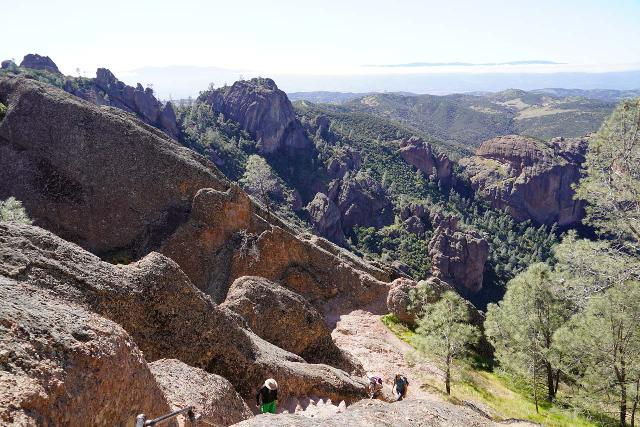 Pinnacles_NP_383_02232020 - Hiking in the opposite direction of Bear Gulch Falls would lead you onto the High Peaks Trail, which lets you hike among the namesake pinnacle formations of Pinnacles National Park