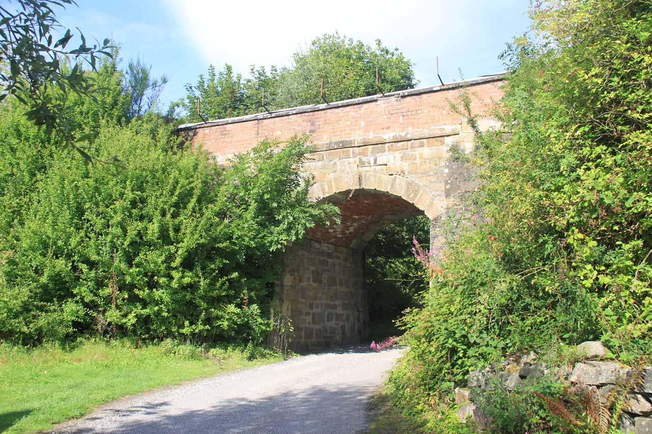 Once I found the signposted turnoff for Black Spout, I then walked this road which passed beneath a railroad bridge