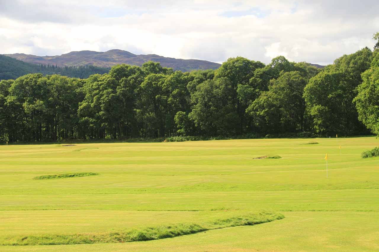 Another look at the golf course flanking the trail to Black Spout