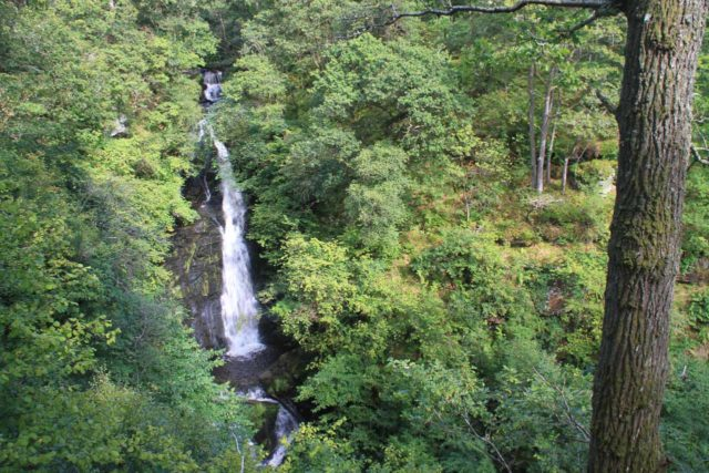 Pitlochry_045_08232014 - Broad look at the Black Spout Waterfall from the narrow lookout area