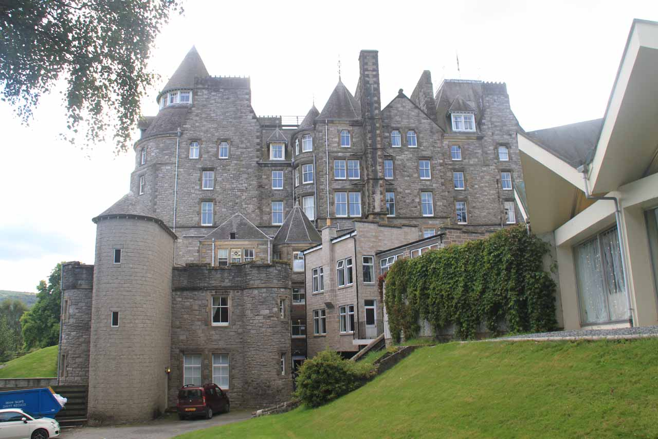 On the way back to town, I made a detour which brought me right by the Atholl Palace Hotel and Museum