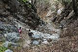 Placerita_Canyon_149_01192019 - Descending the second cascade obstacle seemed trickier than it was going up