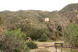 Placerita_Canyon_207_01192019 - Looking towards the water tank at the Placerita Canyon Nature Center.  It turned out that the Canyon Trail to Waterfall Trail was closed so we did the right thing by starting at the Walker Ranch Trailhead.
