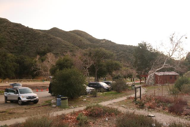Placerita_Canyon_216_01192019 - Looking back at the parking lot for the Placerita Canyon Nature Center, where the longer hike to Placerita Creek Falls began