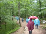 Plitvice_001_jx_05312010 - Julie walking behind a tour group