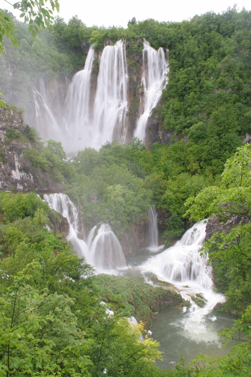 The so-called Great Waterfall or Veliki Slap in a swollen state