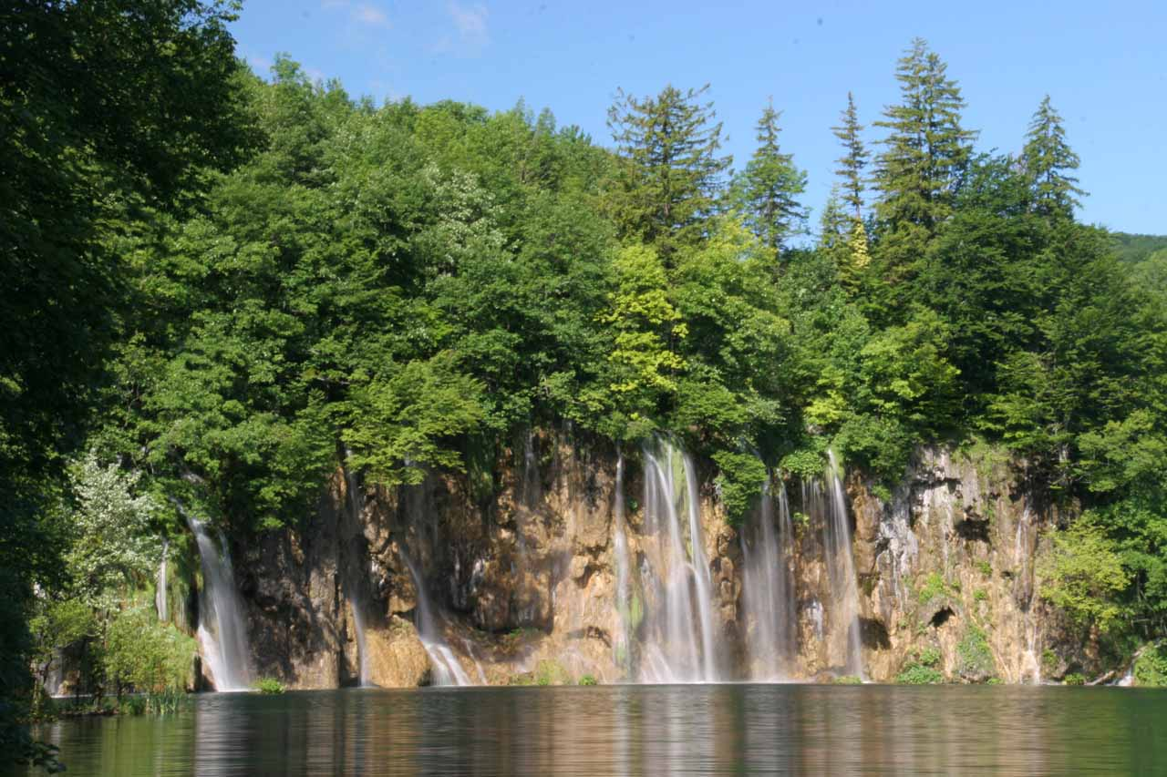 Looking back at another section of the Galovac Waterfalls