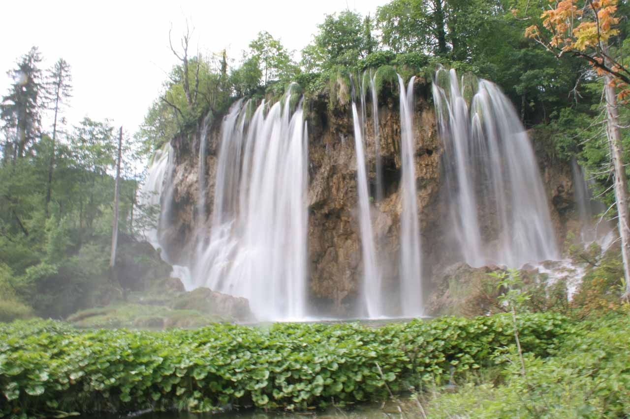 An attractive waterfall in the scenic part of the Upper Lakes