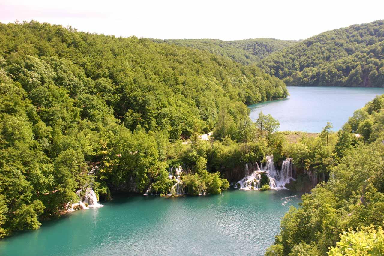Looking back at Milanovački Slapovi at the start of the Lower Lakes