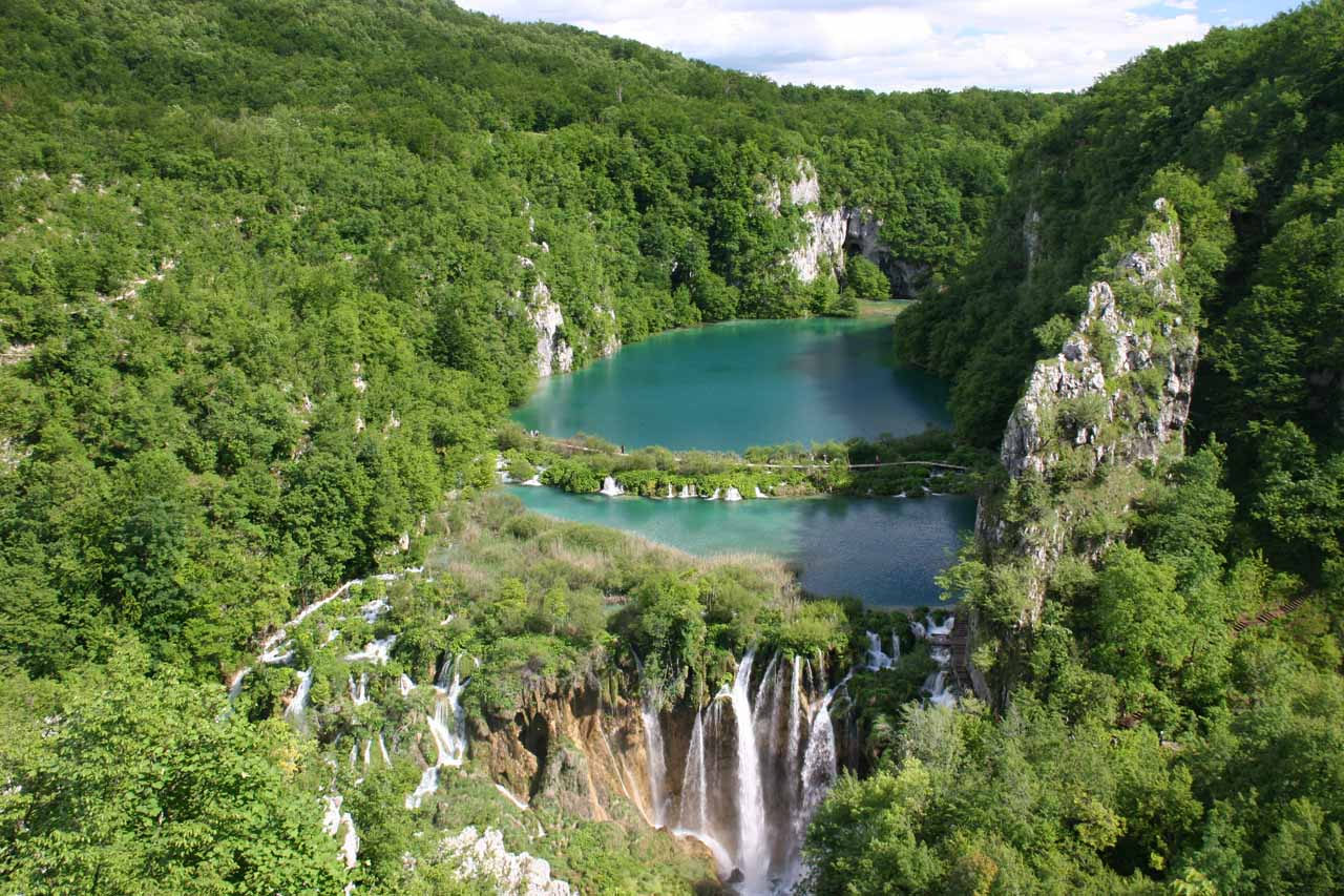 Sastavci Waterfall - one of the many Plitvice Waterfalls