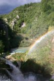 Plitvice_575_06012010 - Rainbow and incoming bad weather at the Sastavci Waterfall in the Lower Lakes