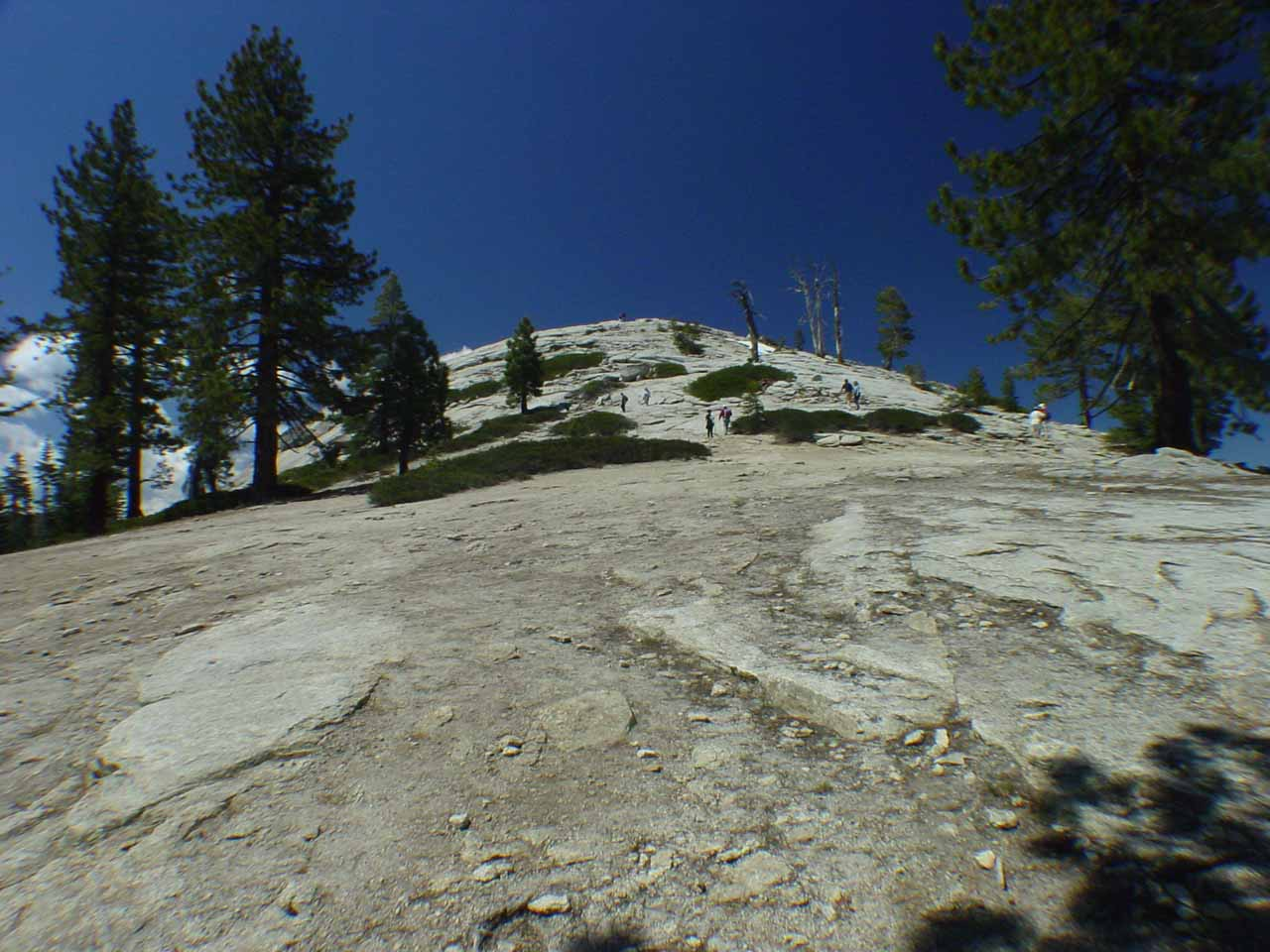Looking up the ascent to the summit of Sentinel Dome