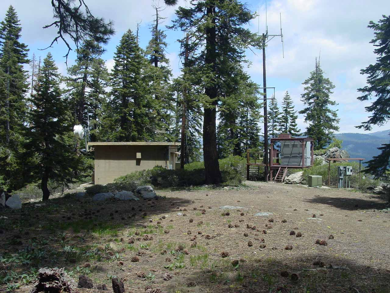 We spotted this repeater or tower or something by the Pohono Trail between the Sentinel Dome and Taft Point Trails