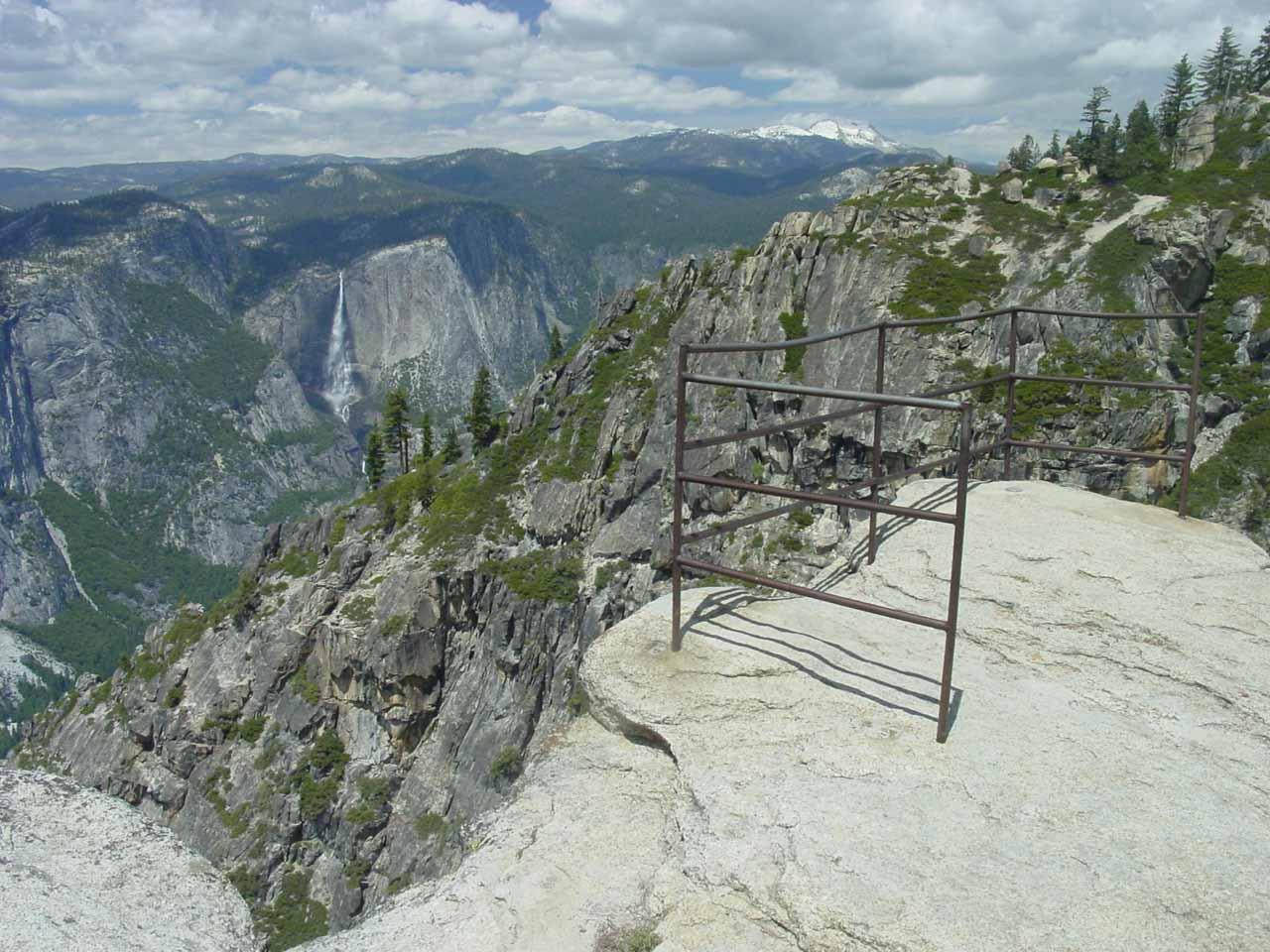 Yosemite Falls from the precipitous Taft Point
