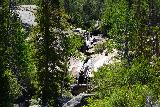 Popo_Agie_Falls_184_08072020 - As I continued to hike further upstream from the rest bench by Popo Agie Falls, I started to notice this cascade and someone about to slide down the granite slope next to it