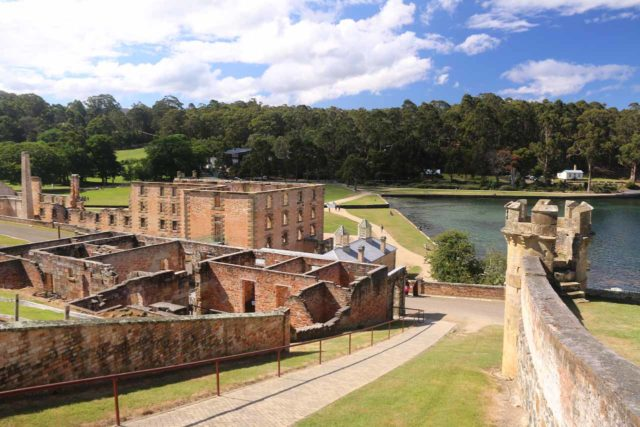 Port_Arthur_17_076_11262017 - Further on the Tasman Peninsula was the historically important Port Arthur Historic Site, which featured ruins of the old prison where some of the earliest Australians were exiled to do hard time