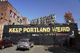 Portland_020_04062021 - The famous 'Keep Portland Weird' mural across from Voodoo Doughnuts in downtown Portland
