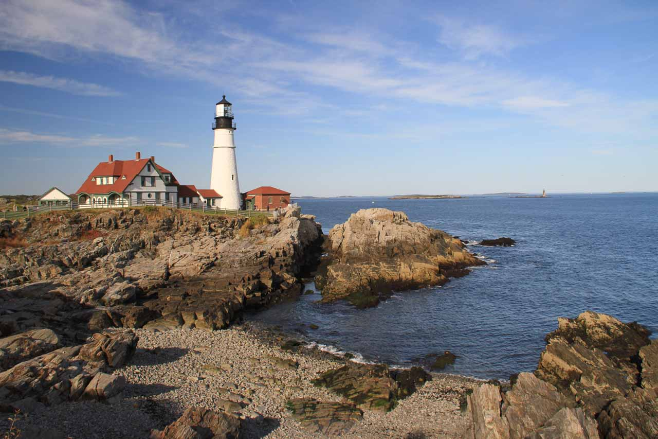 Our first look at the Portland Head Lighthouse