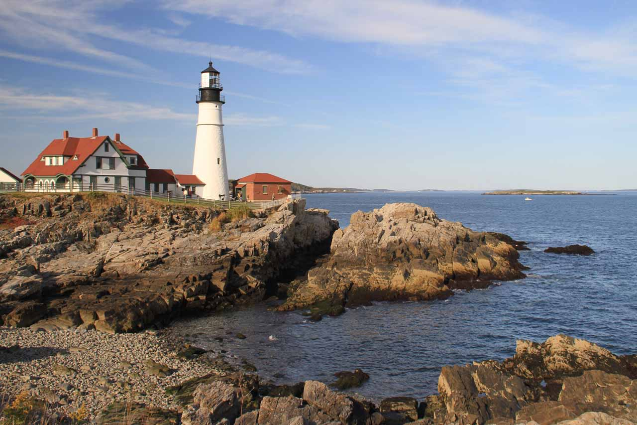 Portland and the Portland Head Light pictured here were our alternate plans after the Government Shutdown nixed our intended visit to Acadia National Park