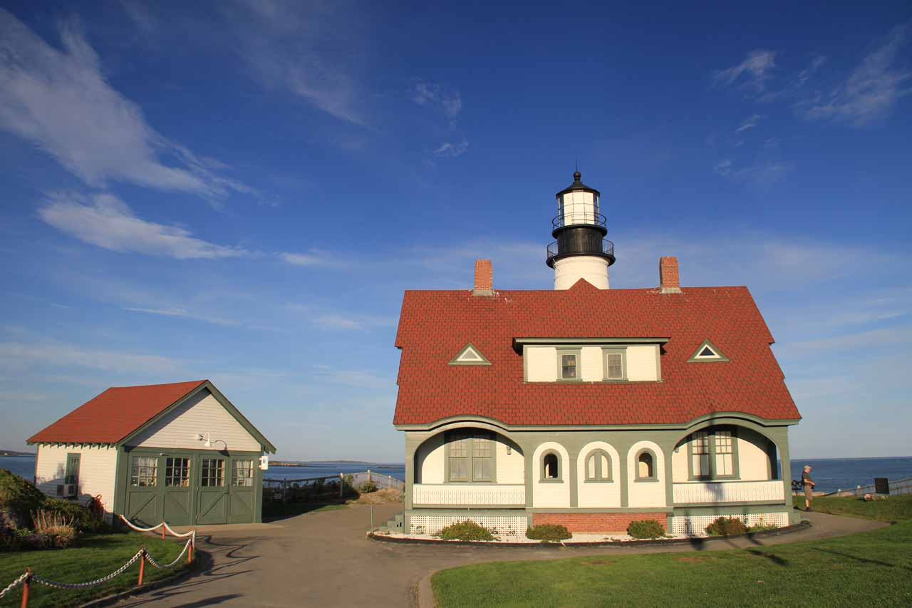 Frontal look at the Portland Head Lighthouse