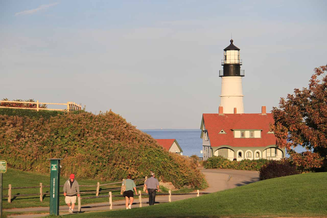 Last look at the Portland Head Lighthouse