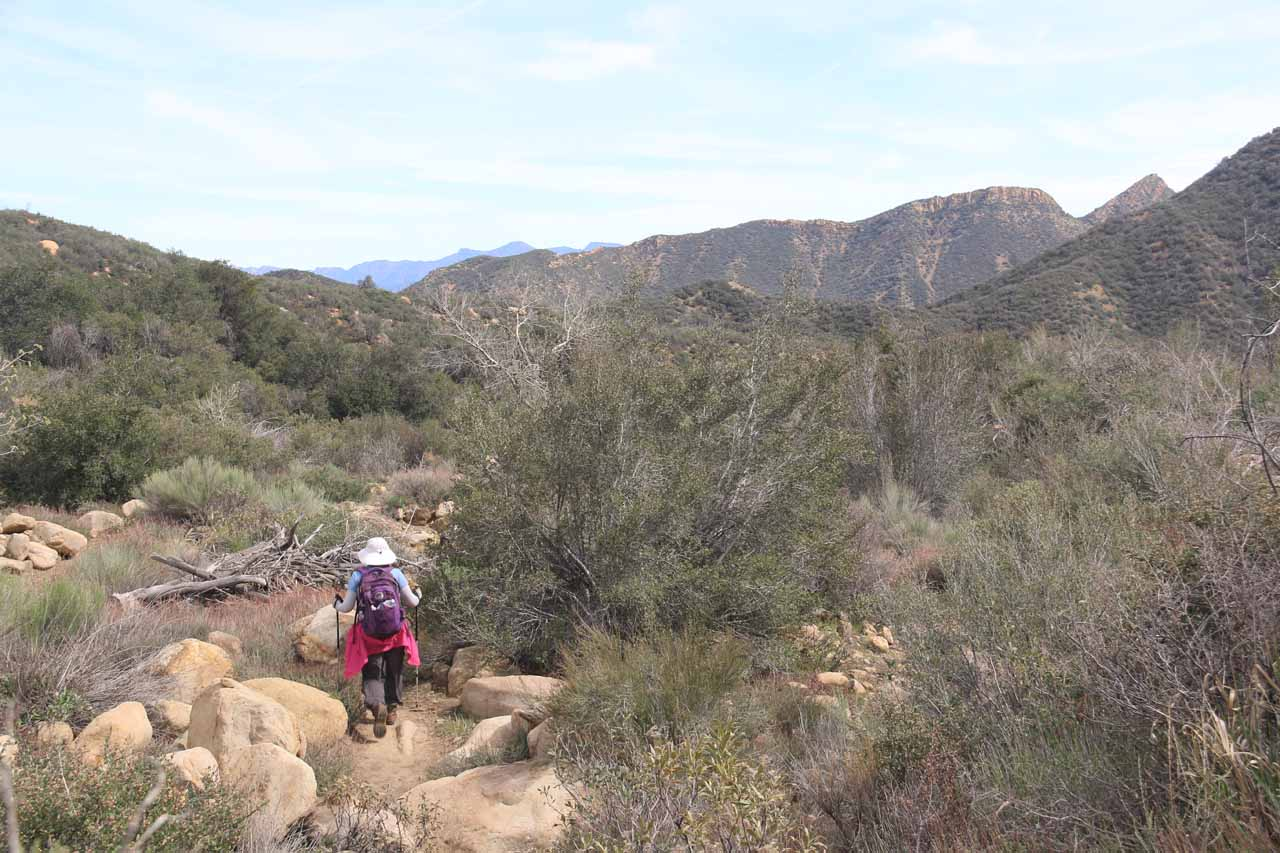 Shortly after passing the Portrero John Camp, we were back in the open terrain