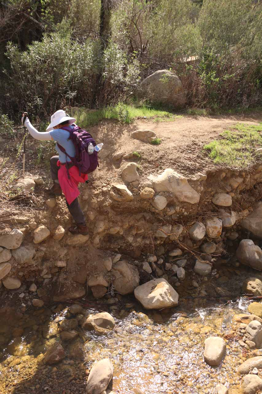 This was one of the scrambling obstacles by a creek crossing that we had to do again on the return hike